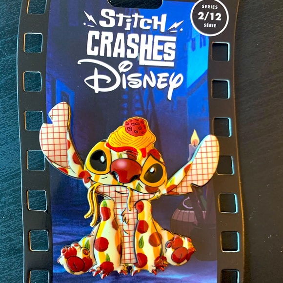Stitch Crashes Disney Lady and the Tramp Pin LE